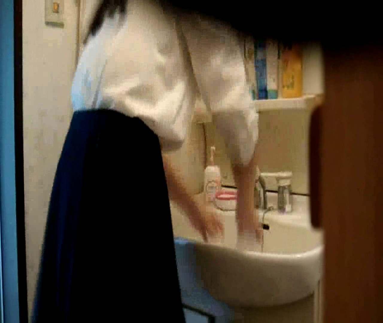 vol.5 まどかが帰宅後の洗顔後にブラを洗ってます。 いじくり  75PIX 55