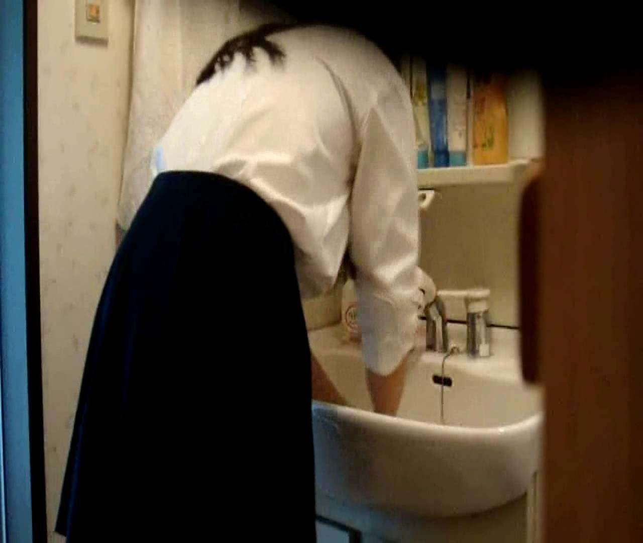 vol.5 まどかが帰宅後の洗顔後にブラを洗ってます。 いじくり  75PIX 56
