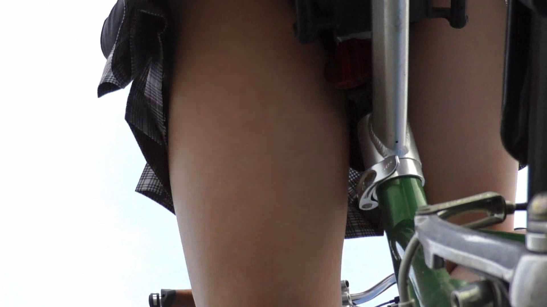 自転車パンチラ Vol.01 美肌  57PIX 50